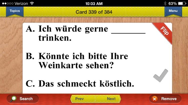 SAT Italian & German Prep Flashcards Exambusters screenshot-3