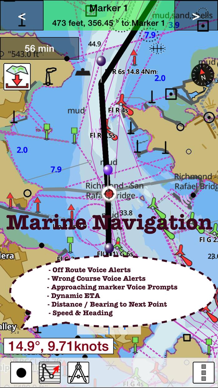 i-Boating: Nautical / Marine Charts & Fishing Maps Screenshot