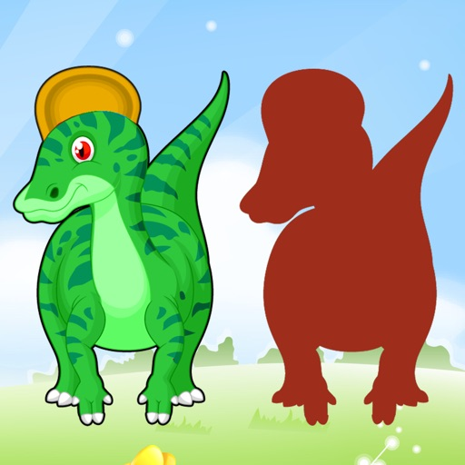 Dinosaur Drag Drop and Match Shadow Dino for kids iOS App