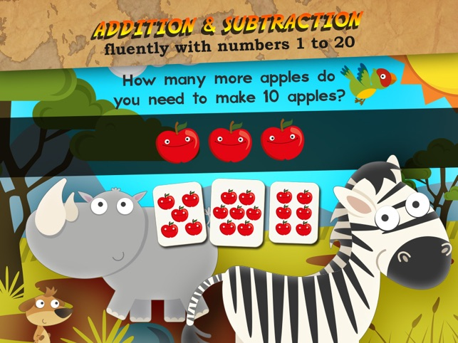 Animal Math 1st Grade Math Screenshot