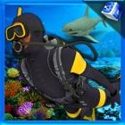 Buzo de buceo y mar loco de aventura de buceo sim icon