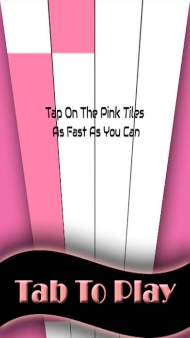 Pink Piano Tap - white music Tile screenshot two