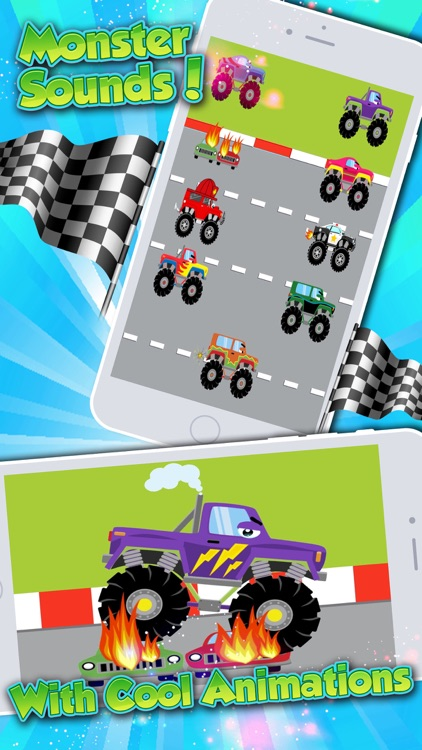 Monster Trucks! Fun 2 3 4 year old games for kids screenshot-3