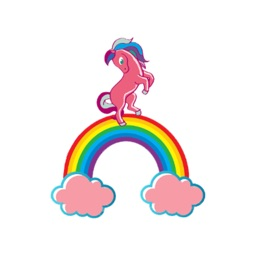 Horses And Rainbows stickers by Nevzat