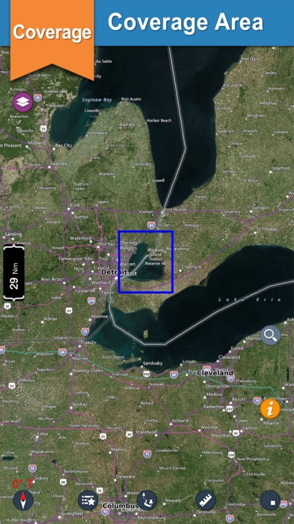 Lake St. Clair offline nautical chart for boaters