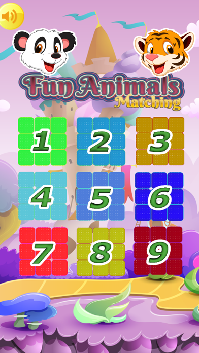 Zoo Animals Matching Puzzle Game for Kids screenshot one