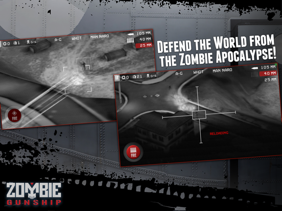 Zombie Gunship: Gun Down Zombies screenshot