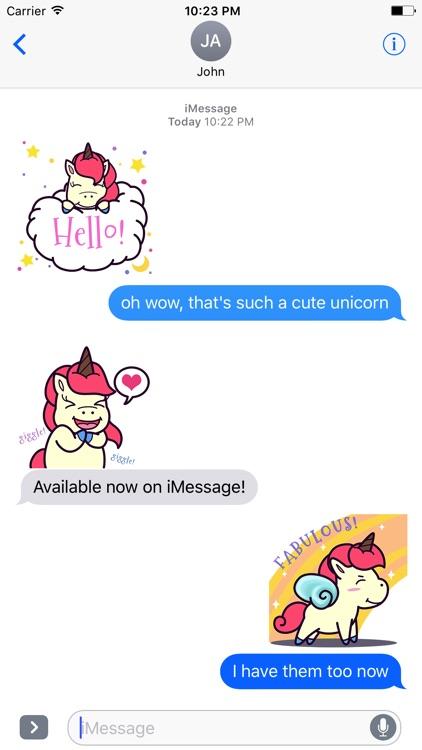 Animated Pink Unicorn Stickers