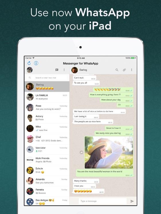 Messenger for WhatsApp for iPad