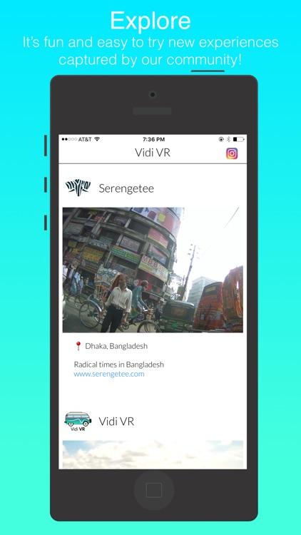 Vidi VR - social virtual reality 3D video sharing