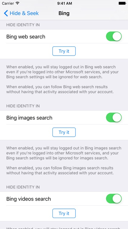 Hide & Seek: Better privacy for your web searches