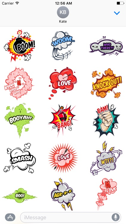 Comic Pop Art Stickers screenshot-0