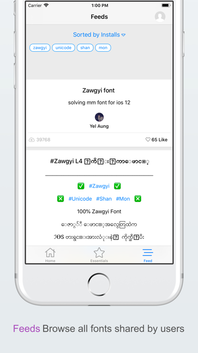 MyFont - Myanmar Font - Revenue & Download estimates - Apple App