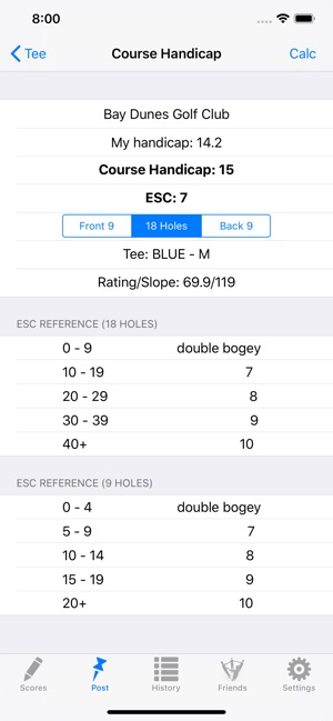 Golf Handicap Tracker & Scores on the App Store
