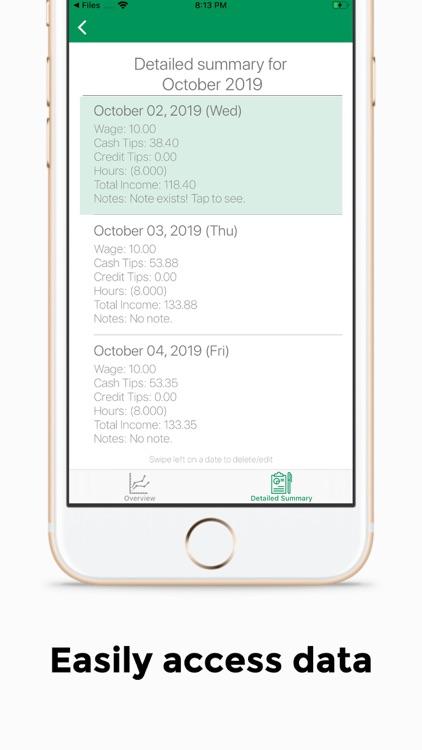 TipTracker - track your income screenshot-3