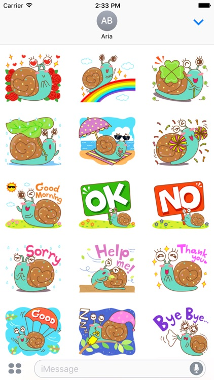 Lovely Colorful Snail Sticker