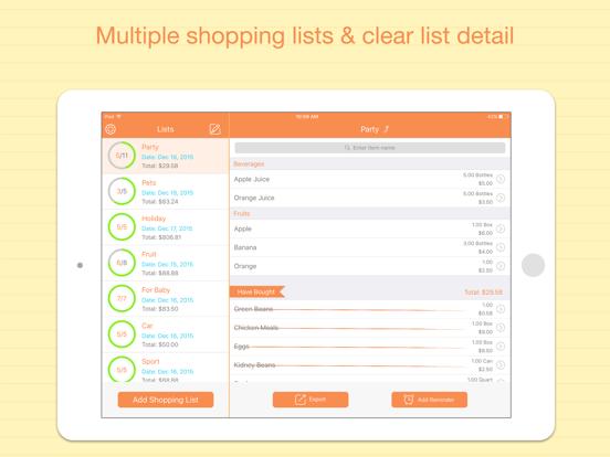 Best Shopping List Free - Smart Gift, Holiday, Christmas & Food Lists screenshot