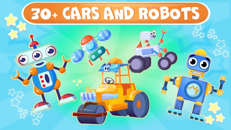 Cars puzzle kids game