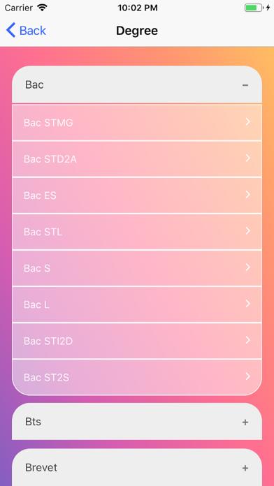 School exams Screenshot