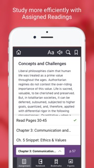 Macmillan Learning eBook iphone images