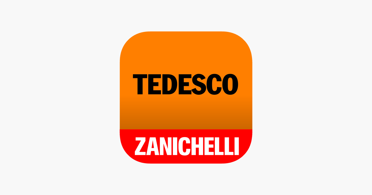 Il Tedesco Zanichelli On The App Store
