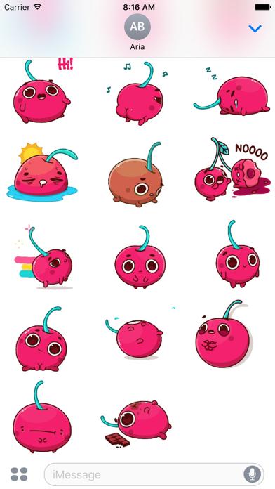 Animated Hot Cherry Sticker screenshot 3
