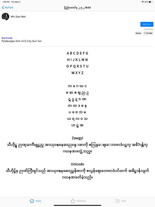 MyFont - Myanmar Font on the App Store