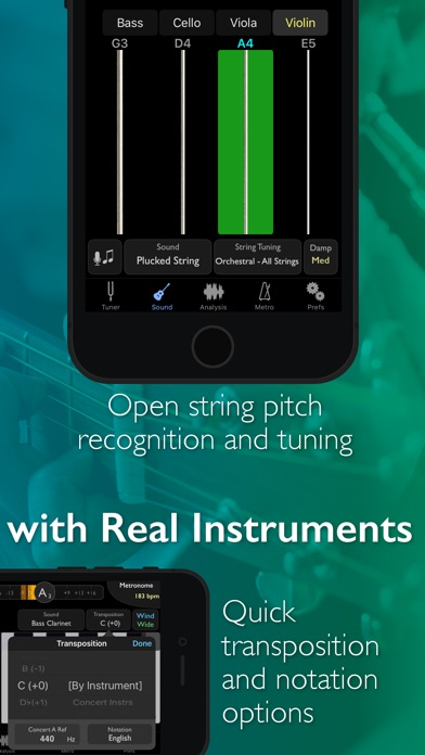 Screenshot for TonalEnergy Tuner & Metronome in Denmark App Store