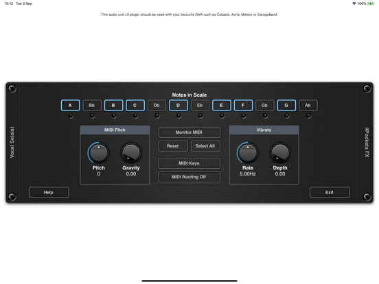 Vocal Soloist AUv3 Plugin
