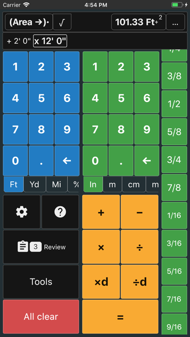 Feet and Inches Calculator screenshot three