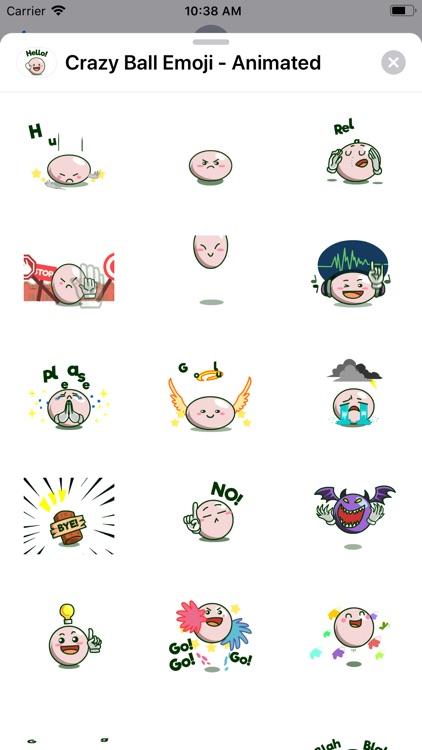 Crazy Ball Emoji - Animated