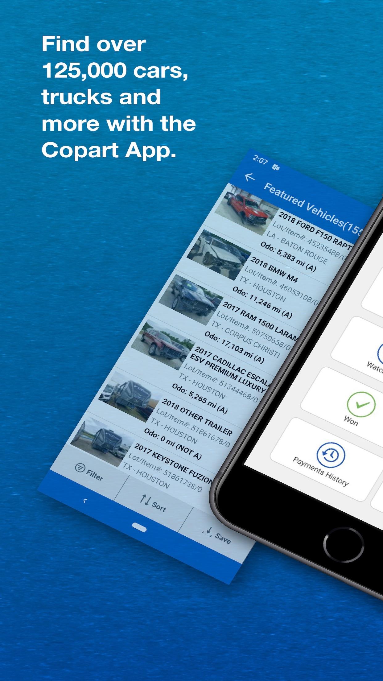 Copart - Salvage Car Auctions Screenshot
