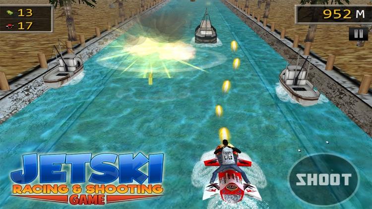 JET SKI RACING SHOOTING GAMES screenshot-3