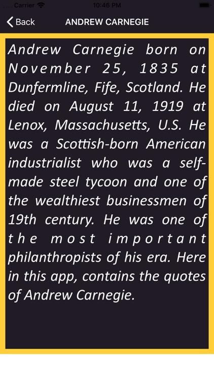 Andrew Carnegie Wisdom screenshot-3