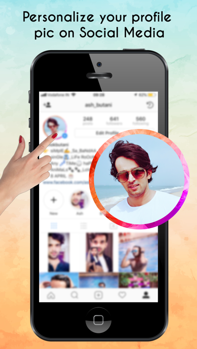 Profile Pic Border by Wen Zhang (iOS, United States) - SearchMan App