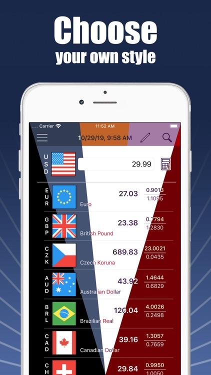 Currencies - money converter screenshot-7