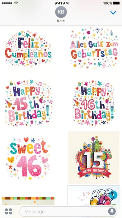 Happy Birthday Sticker Pack