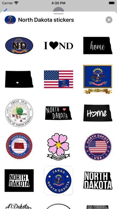 North Dakota - USA stickers screenshot 2