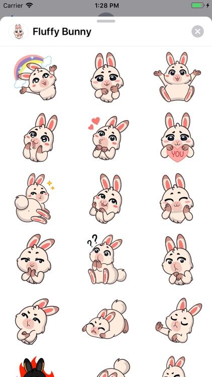 Fluffy Bunny Sticker Pack