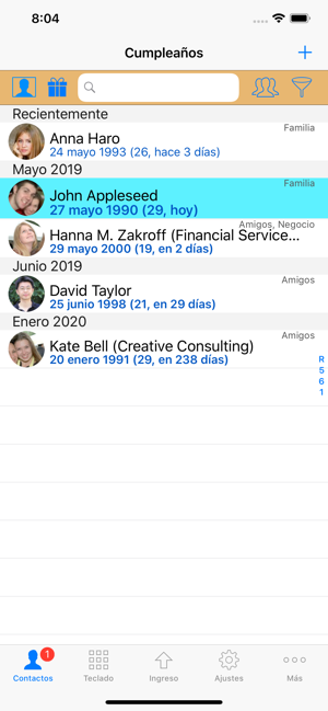 ‎ContactsPro X Screenshot