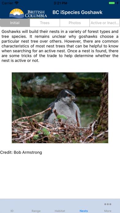 BC iSpecies Goshawk screenshot 3