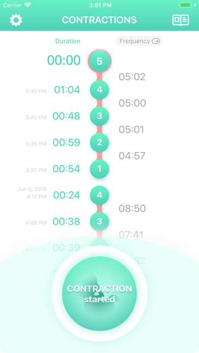 Contraction Timer & Counter 9m Screenshot