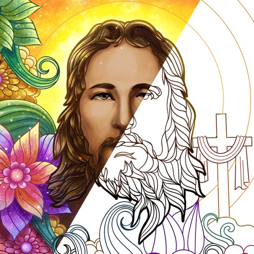 Bible Coloring Paint by Number icon