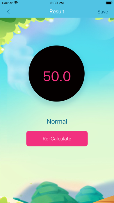 Weight BMI calculator screenshot 2