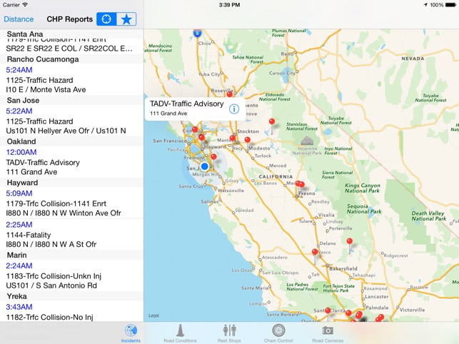 Map Of Highway 87 Arizona.California Road Report On The App Store