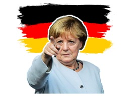 Great Stickers Pack with Angela Merkel