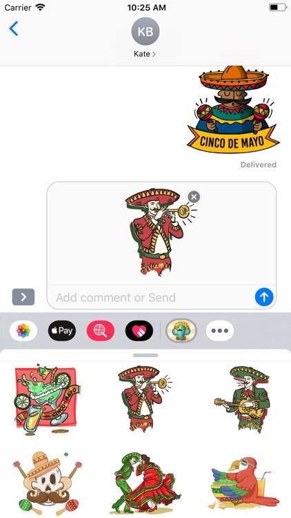 Cinco De Mayo Time Stickers