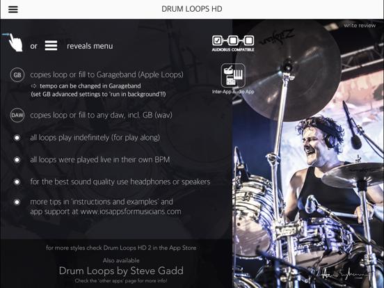 Screenshot #4 pour Drum Loops HD