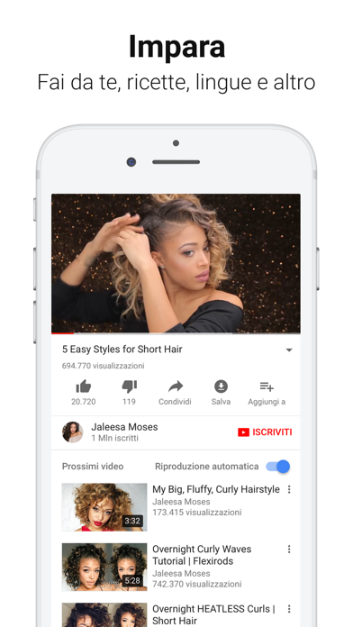 Screenshot for YouTube in Italy App Store