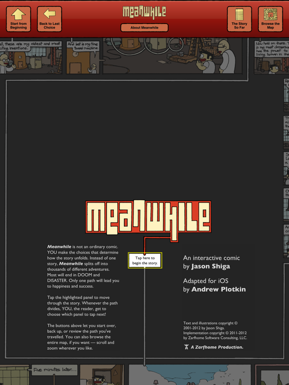 Meanwhile: An Interactive Comic Book screenshot